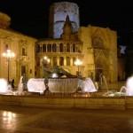 Valencia Plaza Virgen Noche